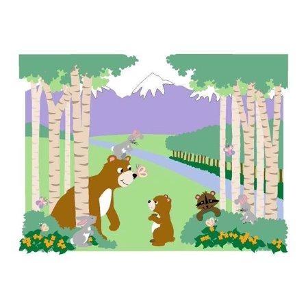Bears and butterflies wall mural for Belly button bears wall mural