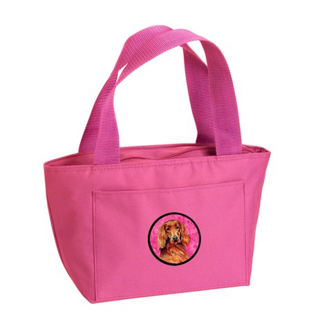 Pink Irish Setter Lunch Bag or Doggie Bag LH9389PK