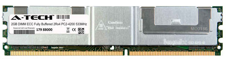 2GB Module PC2-4200 533MHz 2Rx4 ECC Fully Buffered DDR2 DIMM Server 240-pin Memory Ram
