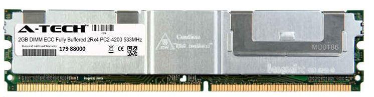2GB Module PC2-4200 533MHz 2Rx4 ECC Fully Buffered DDR2 DIMM Server 240-pin Memory Ram