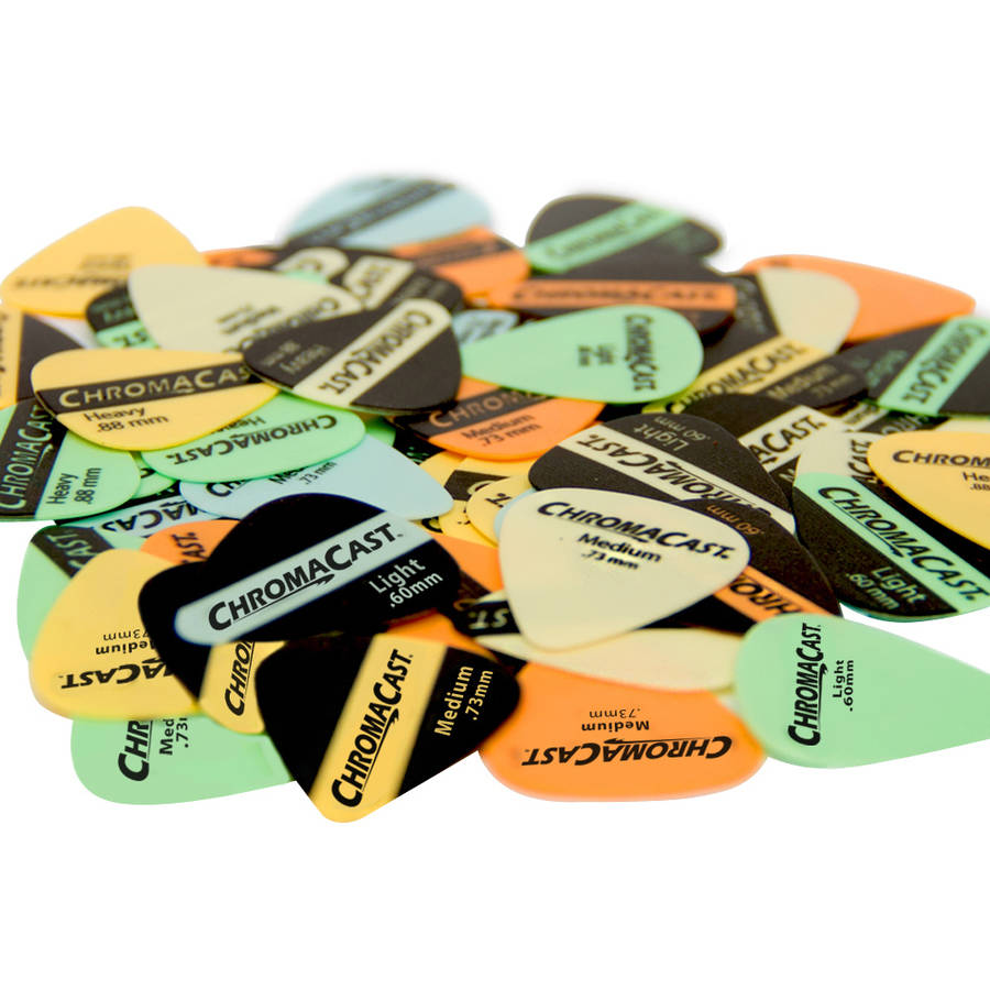 ChromaCast Vintage Delrin Guitar Pick 60 Pack, Assorted Colors and Gauges