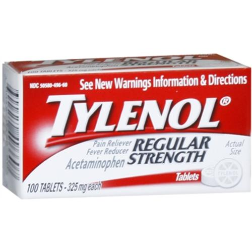 TYLENOL Regular Strength Tablets 100 Tablets (Pack of 2)