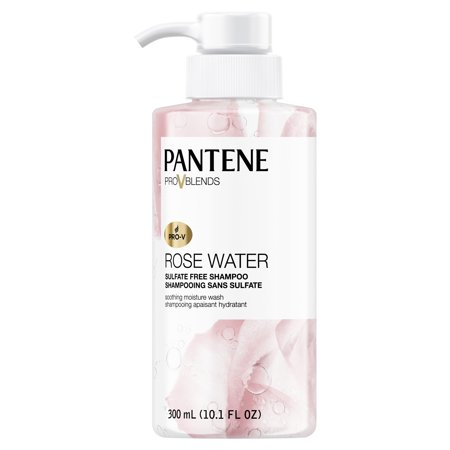 Pantene Pro-V Blends Rose Water Sulfate-Free Soothing Moisture Wash Shampoo, 10.1 fl (Best Shampoo For Hard Water In India)