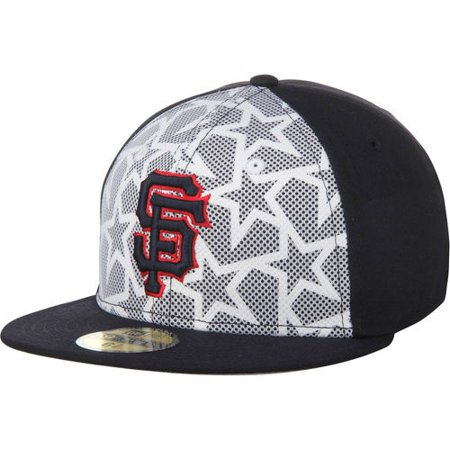San Francisco Giants New Era Stars & Stripes 59FIFTY Fitted Hat - White/Navy - New Era Striped Hat