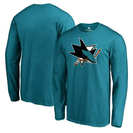 San Jose Sharks Team Primary Logo Long Sleeve T-Shirt - Teal ()