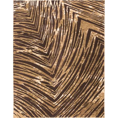 Well Woven Eventful Spirit Brown & Beige Animal Print 4X6 (3'11