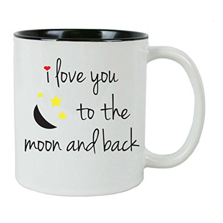 I Love You To The Moon and Back Coffee Mug with FREE Gift Box - - Great Gift for Birthdays, Valentines Day, and Christmas Gift](Boxes For Christmas Gifts)