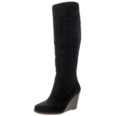 Jessica Simpson Women's Caydee Fashion Boot Black Suede Knee High Wedge Boots