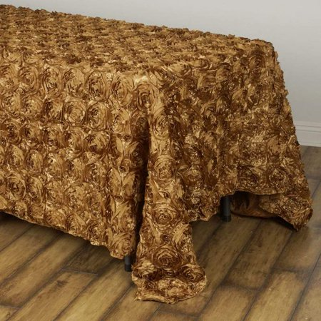 Efavormart Rosette/ Rose Pattern Rectangle Tablecloths -90x132