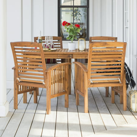 Manor Park Solid Wood 5-Piece Outdoor Patio Dining Set - Brown ()