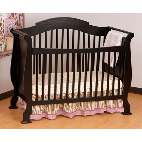 Storkcraft Valentia Fixed-Side Convertible Crib, Black