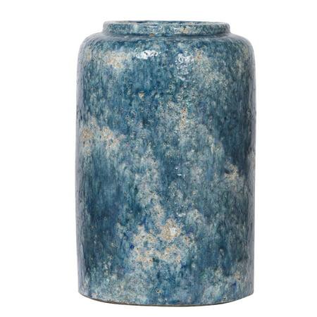 A&B Home Firth Round Vase, Medium, Blue for $<!---->