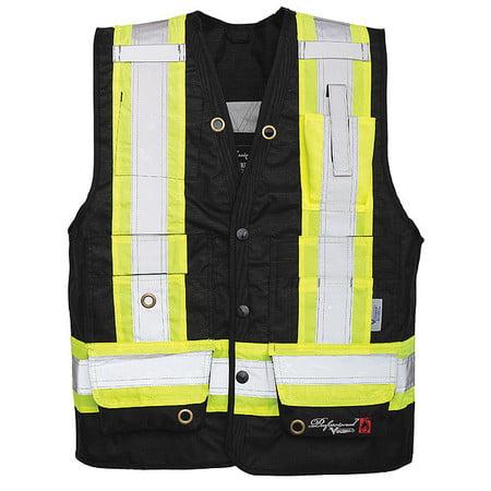 VIKING Flame-Resistant Vest,Black,XL 3995FR-XL