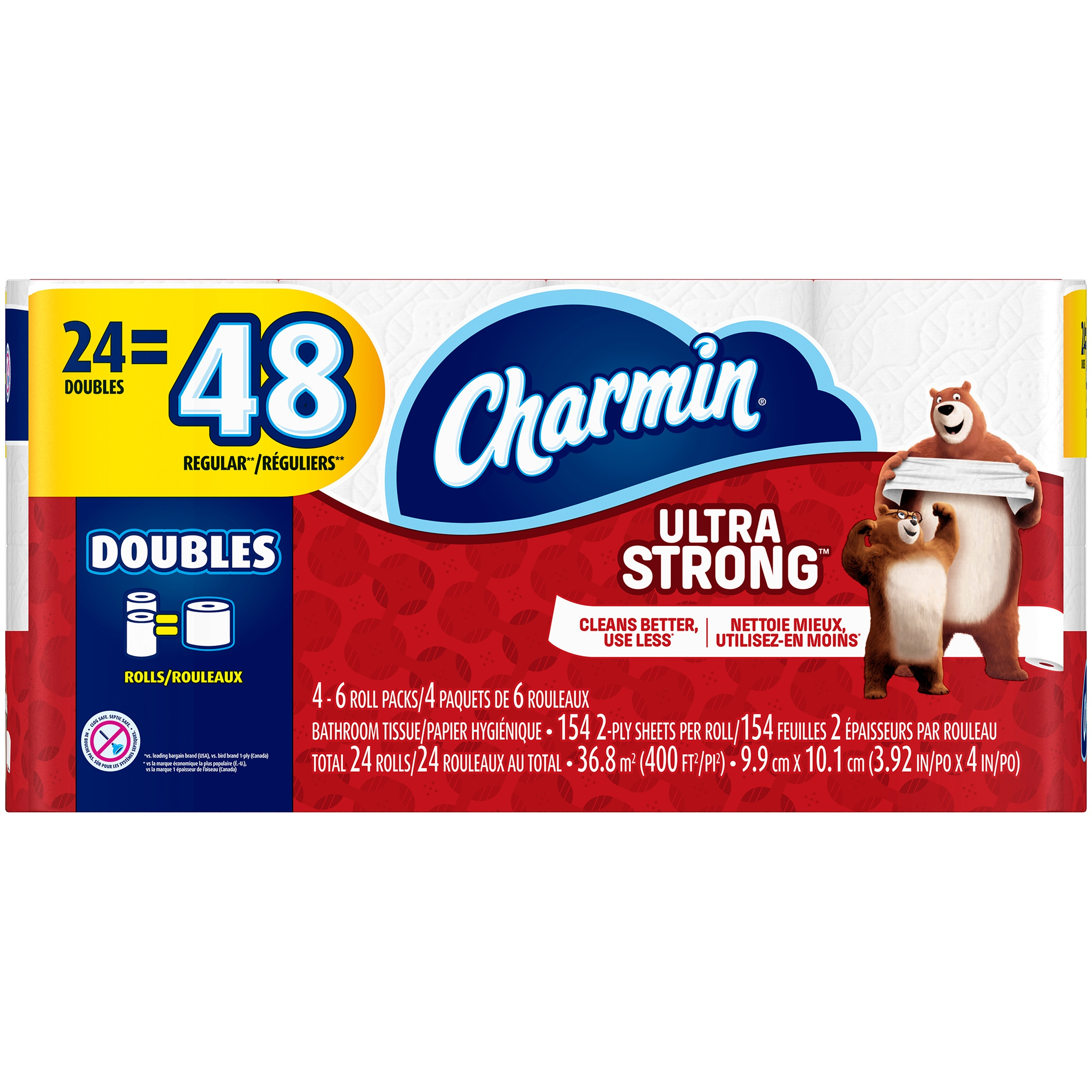 Charmin Ultra Strong Toilet Paper, Double Rolls, 24 Ct