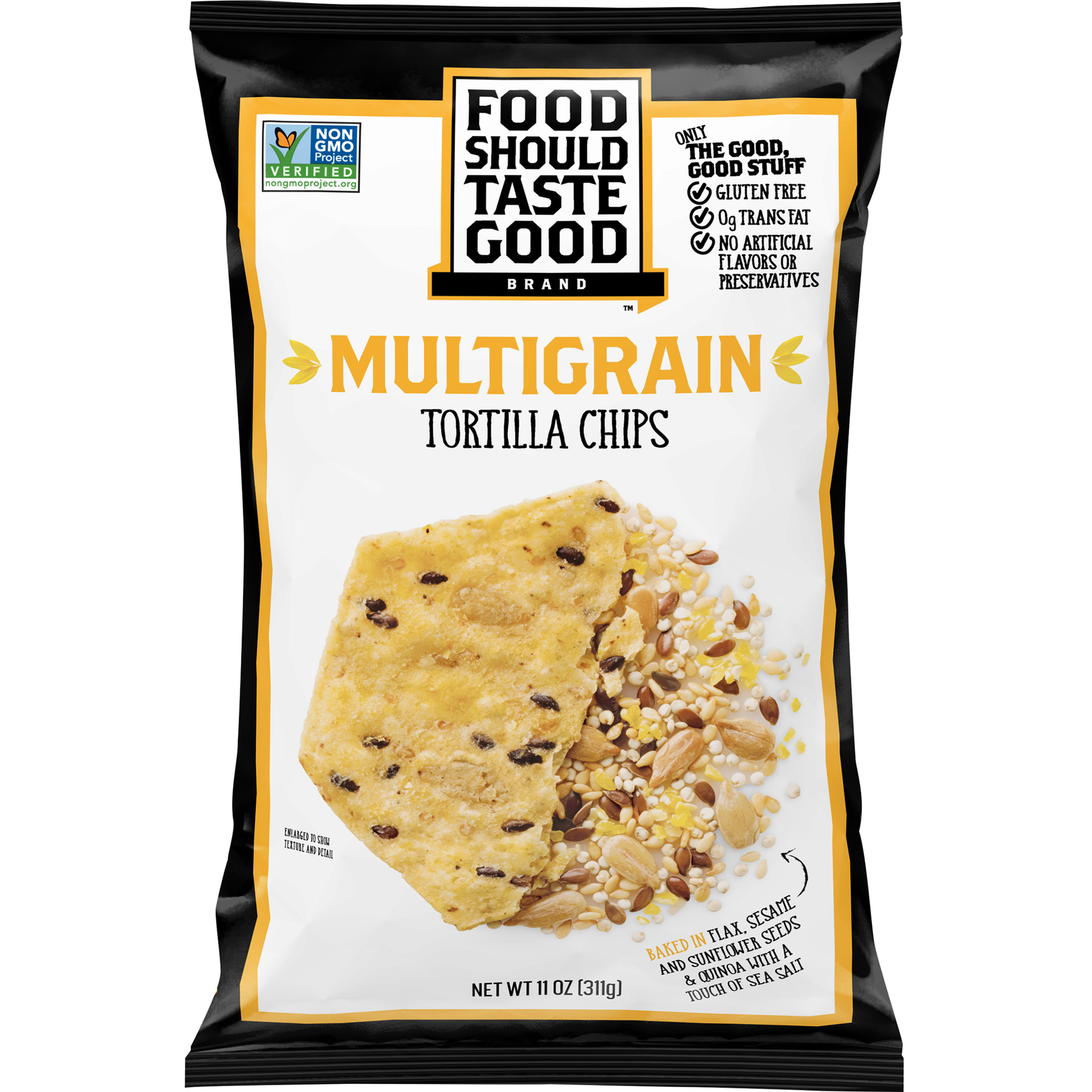 Food Should Taste Good Multigrain Tortilla Chips, 11 oz