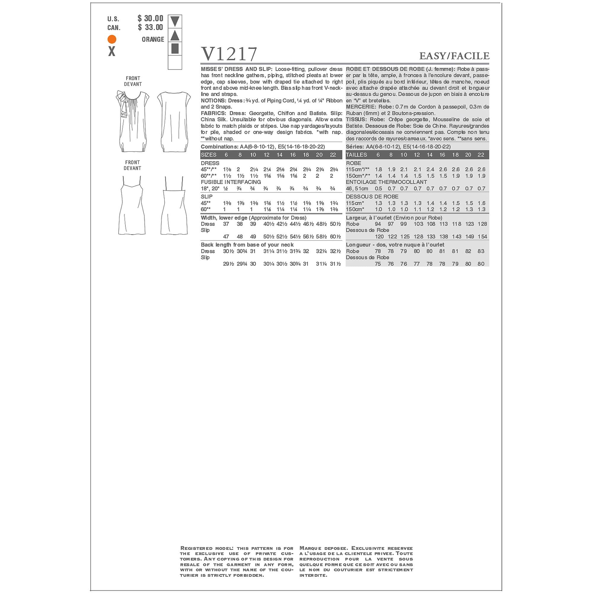 Misses Dress and Slip-AA (6-8-10-12)