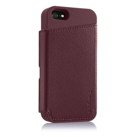 premium selection e2d52 e8b62 Targus Wallet Case for iPhone 5, Merlot - Walmart.com