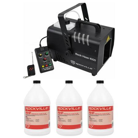 Dmx Haze Machine - Rockville ROCKHAZE 1000 CFM DMX Water Based DJ/Club Haze Machine+(3) Gal Fluid
