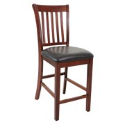 Sturdy Dining Chairs Counter Height-Finish:Chestnut,Quantity:6 Piece