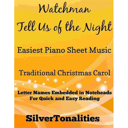 Watchman Tell Us of the Night Easiest Piano Sheet Music - eBook - Halloween Night Piano Sheet Music