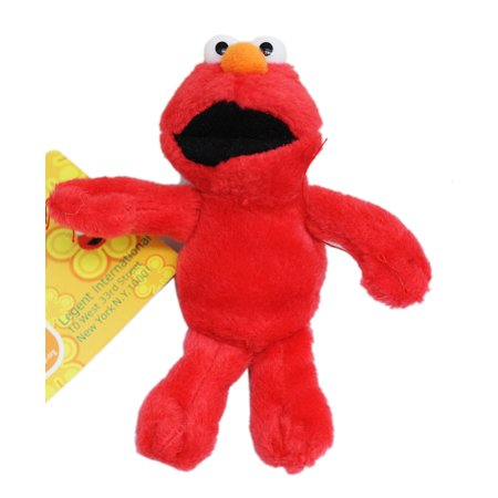 Sesame Street's Elmo Miniature Kids Plush Toy With Secret Pocket (4in)](Elmo Kids)