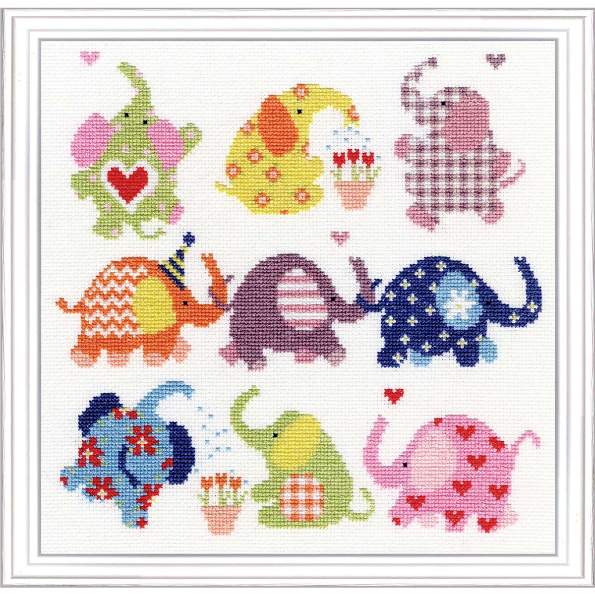 Bothy Threads Slightly Dotty Elephants Counted Cross-Stitch Kit