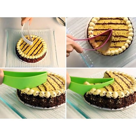 1 x Practical Perfect Slicer Cake Knife Eco-friendly Green  Cake Cutter Free Shiping MZ