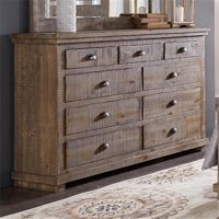 Progressive Furniture P635-23 42 x 64 x 18 in. Drawer Dresser - Weathered Gray