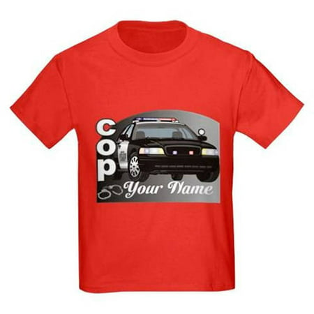 Cafepress personalized custom cop kids dark t shirt for Walmart custom made t shirts