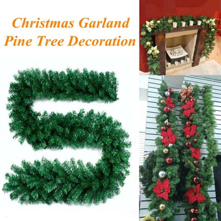 2.7M Christmas Decorations Ornaments Xmas Tree Garland Rattan Home Wall Pine