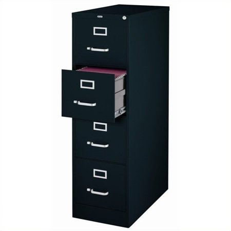 Hirsh 22-inch Deep 4-Drawer, Letter-Size Vertical File Cabinet, Black