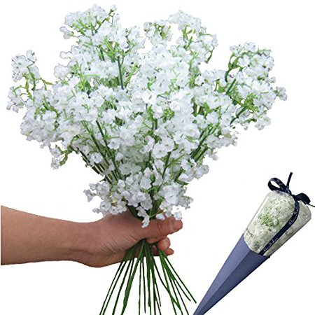 12pcs Artificial flowers Gypsophila Baby's Breath Bouquet Silk Baby Breath Flowers for Home Wedding Party Decorations Pretty Flowers - Pretty Wedding Colors