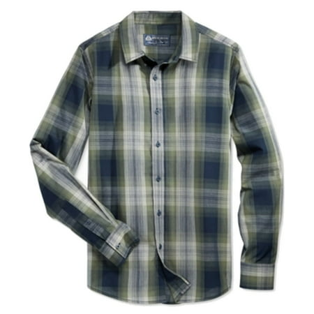 NEW Green Mens Size Small S Plaid Button Down Shirt