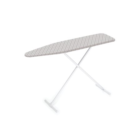 Homz T-Leg Steel Top Ironing Board with Foam Pad, Grey Pattern Cover, Set of