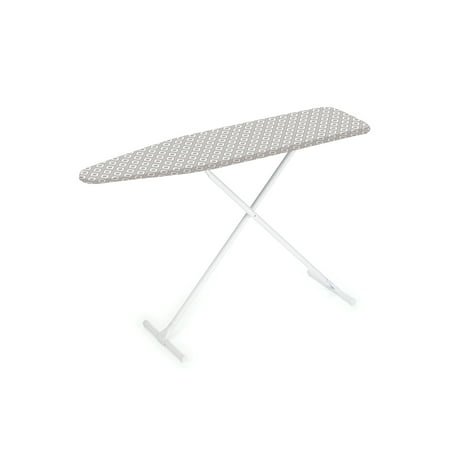 Homz T-Leg Steel Top Ironing Board with Foam Pad, Grey Pattern Cover, Set of (Best Ironing Board Extra Large)