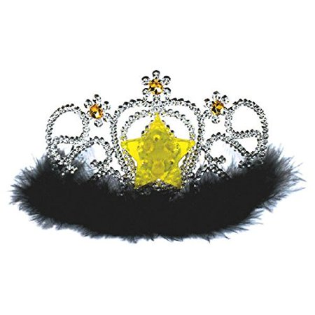 Amscan Glamorous 20's Old Hollywood Themed Party Light-Up Star Marabou Tiara - 20s Themed Wedding