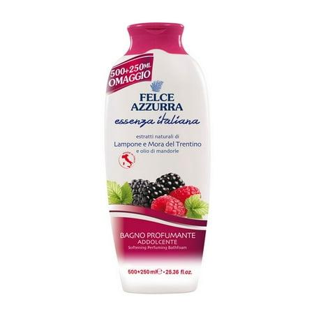Felce Azzurra Essenza Italiana Bath Foam Softening - Raspberry & Blackberry of Trentino 500+250ml   25.36oz