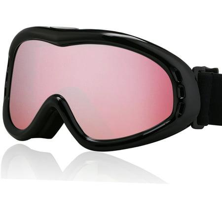 Ski Glasses Snowboard Goggles UV400 Protect Anti-fog