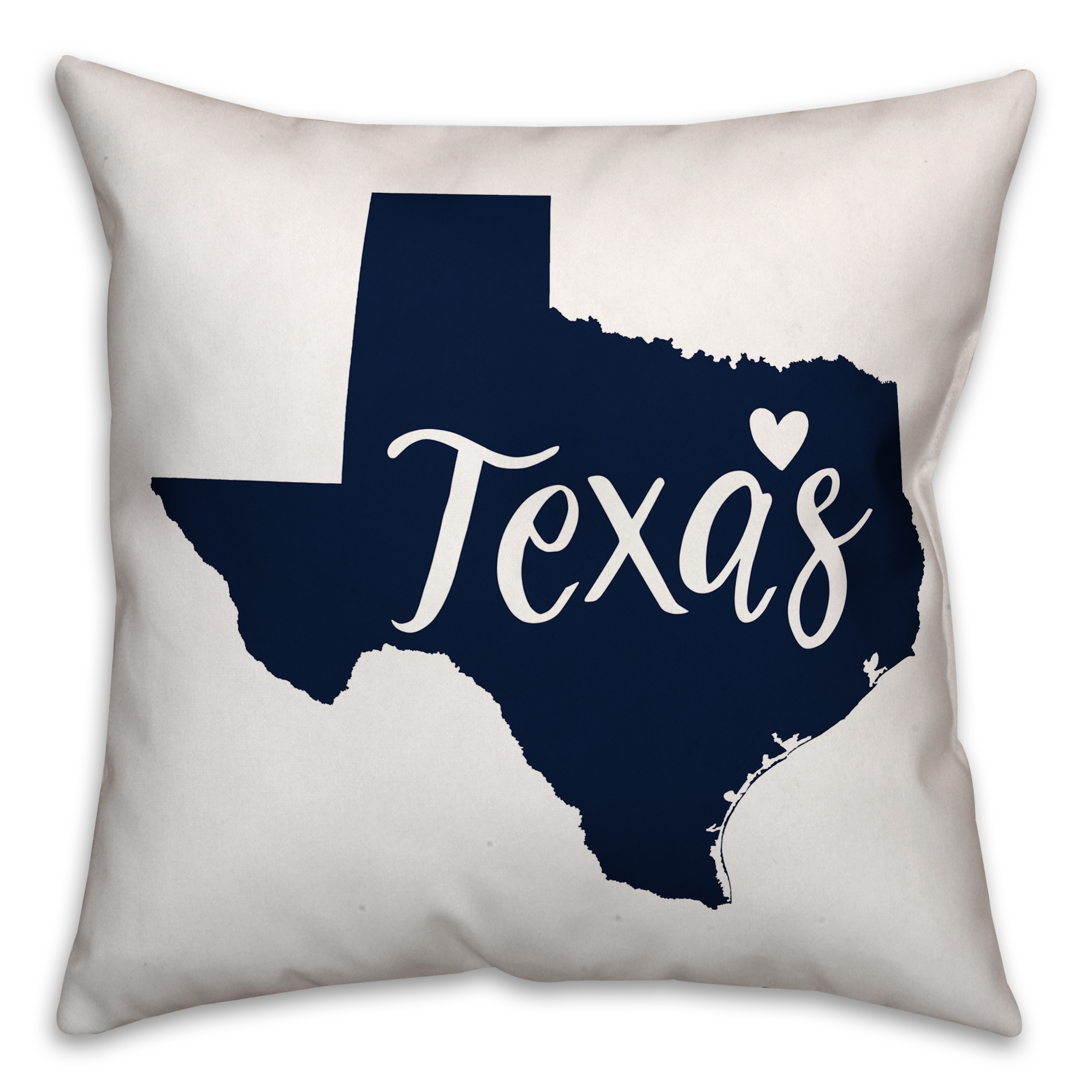 Blue and White Texas Pride 16x16 Spun Poly Pillow