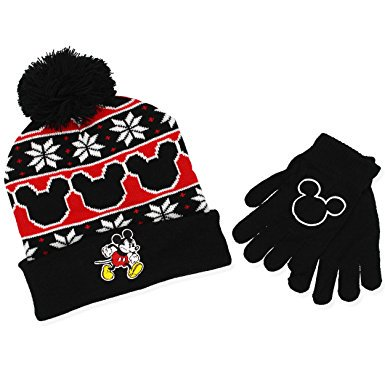 38f96976238 Disney - Mickey Mouse Youth Boys Beanie Hat and Gloves Set (Little ...