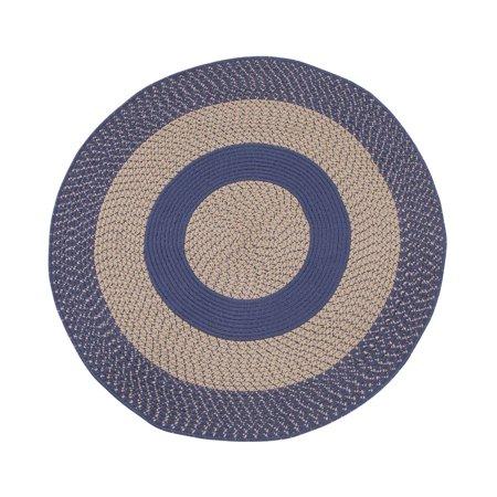 Multi-Color Non-Slip Braided Round Rug by OakRidgeTM ()
