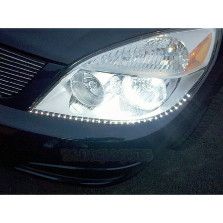 New 2007 2008 2009 Saturn Aura LED DRL Strip Lights LEDs DRLs Strips for Headlamps Headlights Head - Saturn Aura Sedan