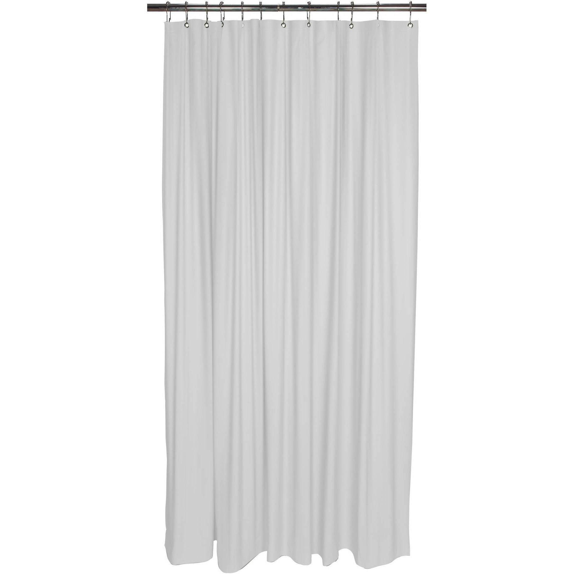 Bath Bliss Shower Liner - Frost Clear - Walmart.com