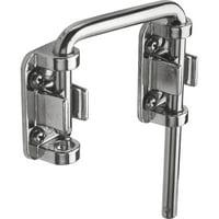 Sliding Door Loop Lock, 2-1/8 in., Hardened Steel Bar w/Diecast Base, Chrome Plated
