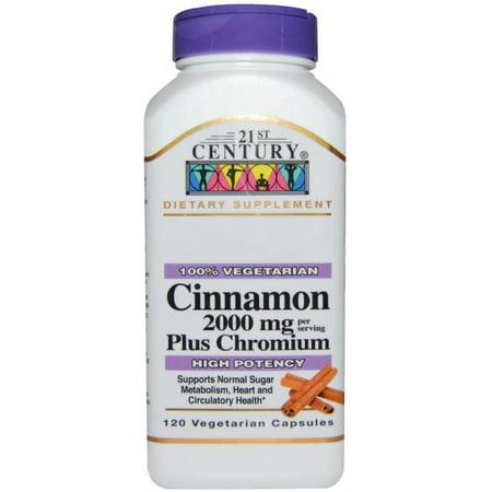 21st Century Cinnamon Plus Chromium 2000mg Capsules, 120 (Best Rom Coms Of 21st Century)