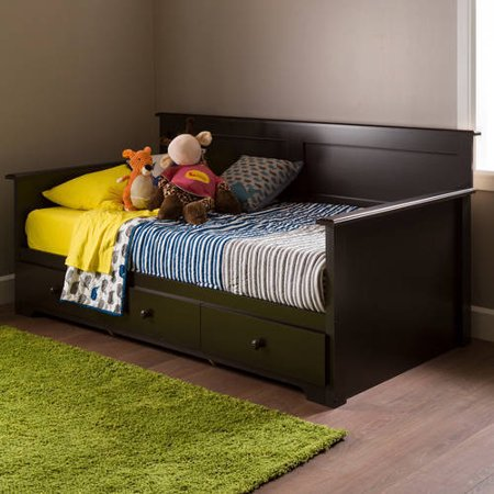 South Shore Summer Breeze Twin Daybed with Storage, Chocolate