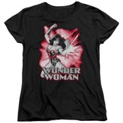 Jla - Wonder Woman Red & Gray - Women's Short Sleeve Shirt - Large