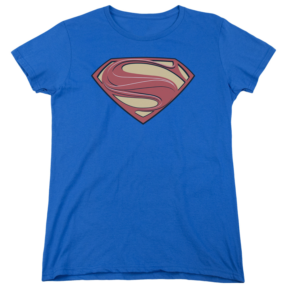 Man of Steel Superman New Solid Shield Womens Short Sleeve Shirt