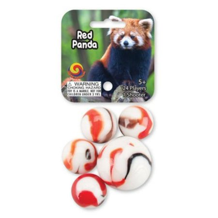Red Panda Game Net Set 25 Piece Glass Mega Marbles for $<!---->