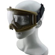 Eyes Face Protective and Stylish Large Goggles - Tan Color